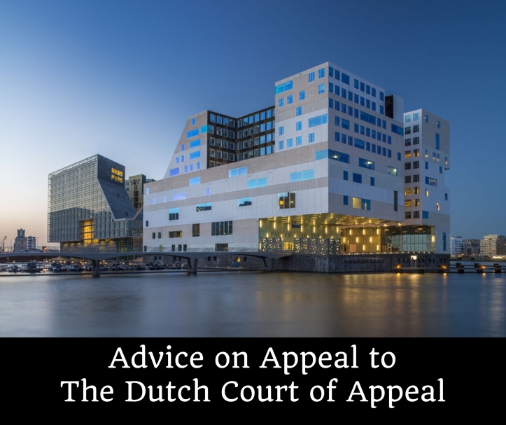 Appeal to Dutch Court of Appeal Netherlands